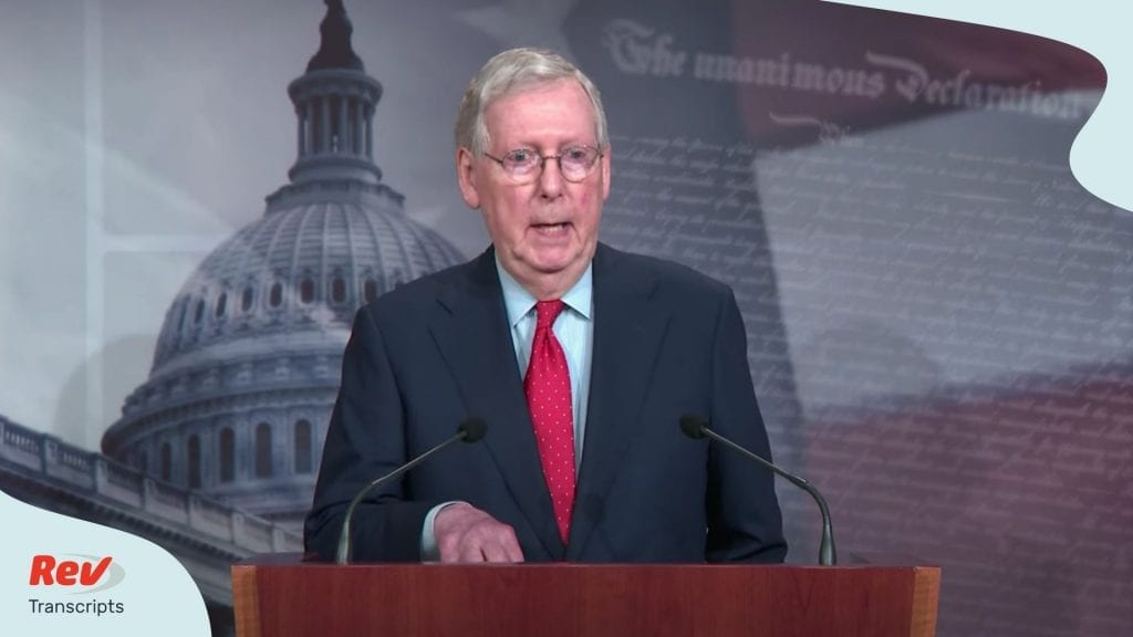 Mitch McConnell Aptil 21 Briefing