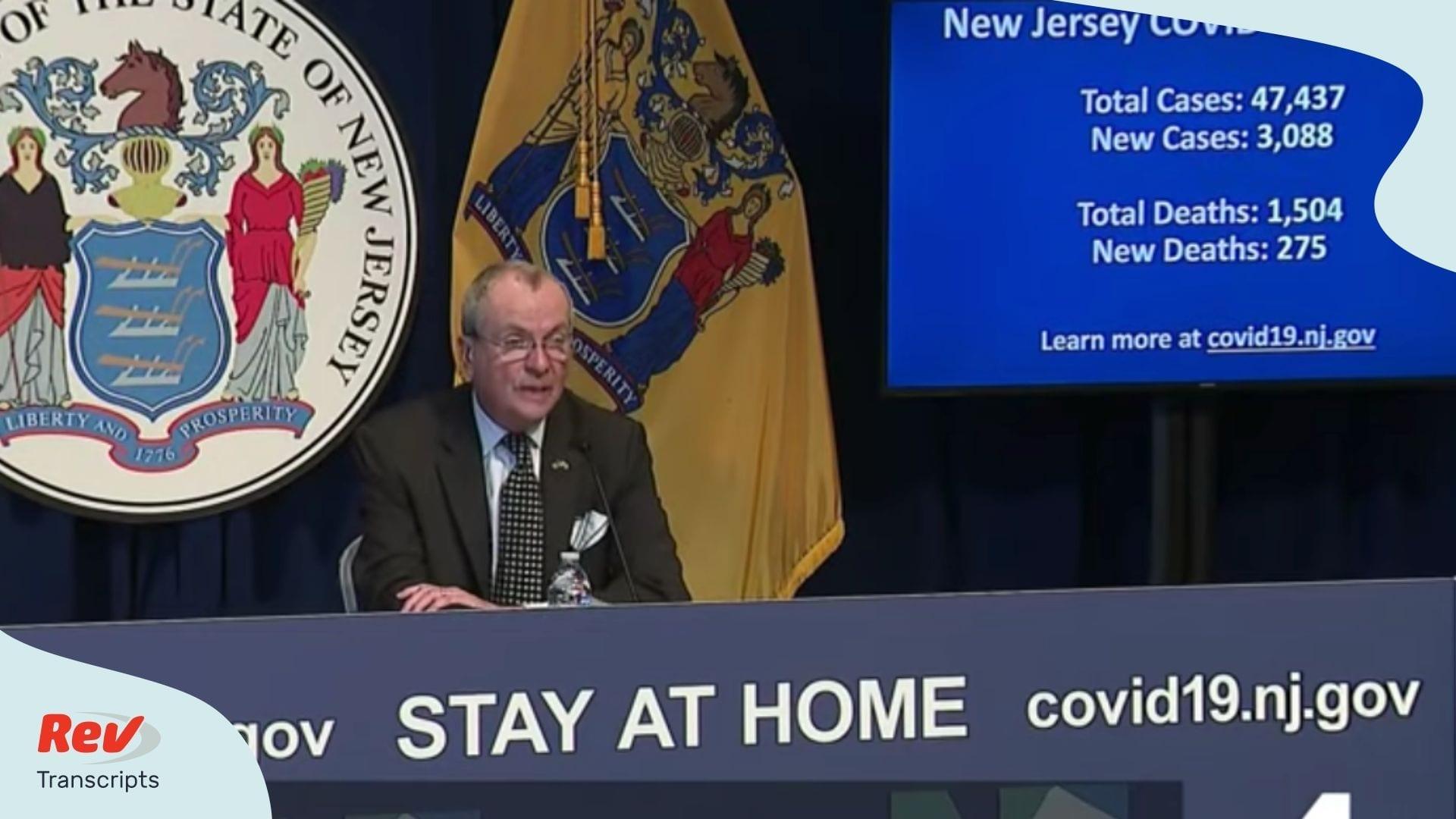 NJ Governor Phil Murphy coronavirus April 8