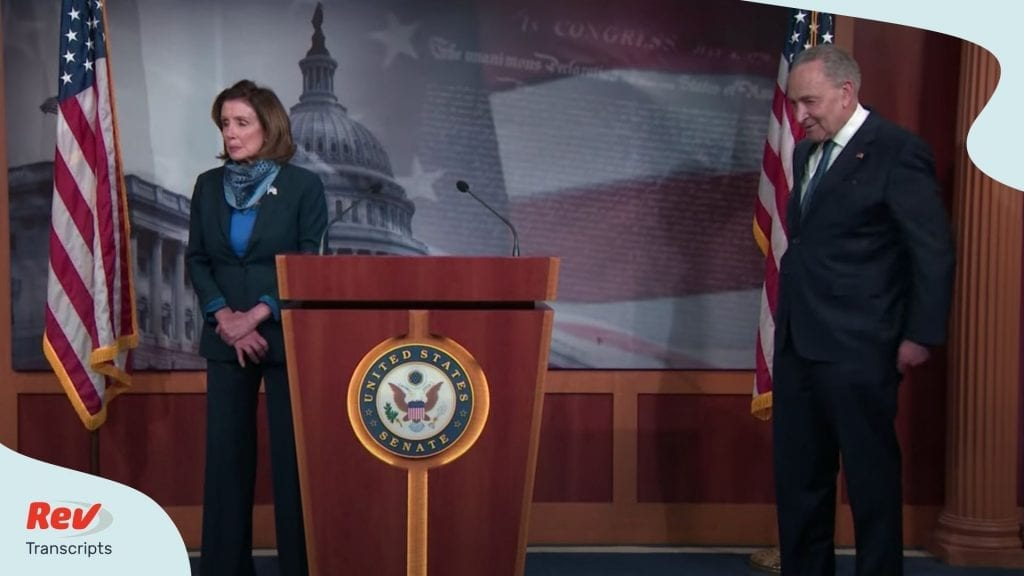 Nancy Pelosi Chuck Schumer Speak Coronavirus Aid Bill