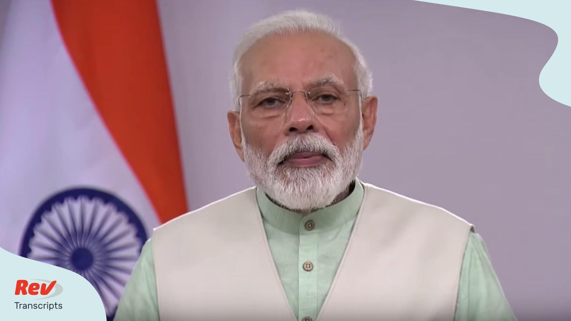 Narendra Modi India COVID-19 Briefing April 4