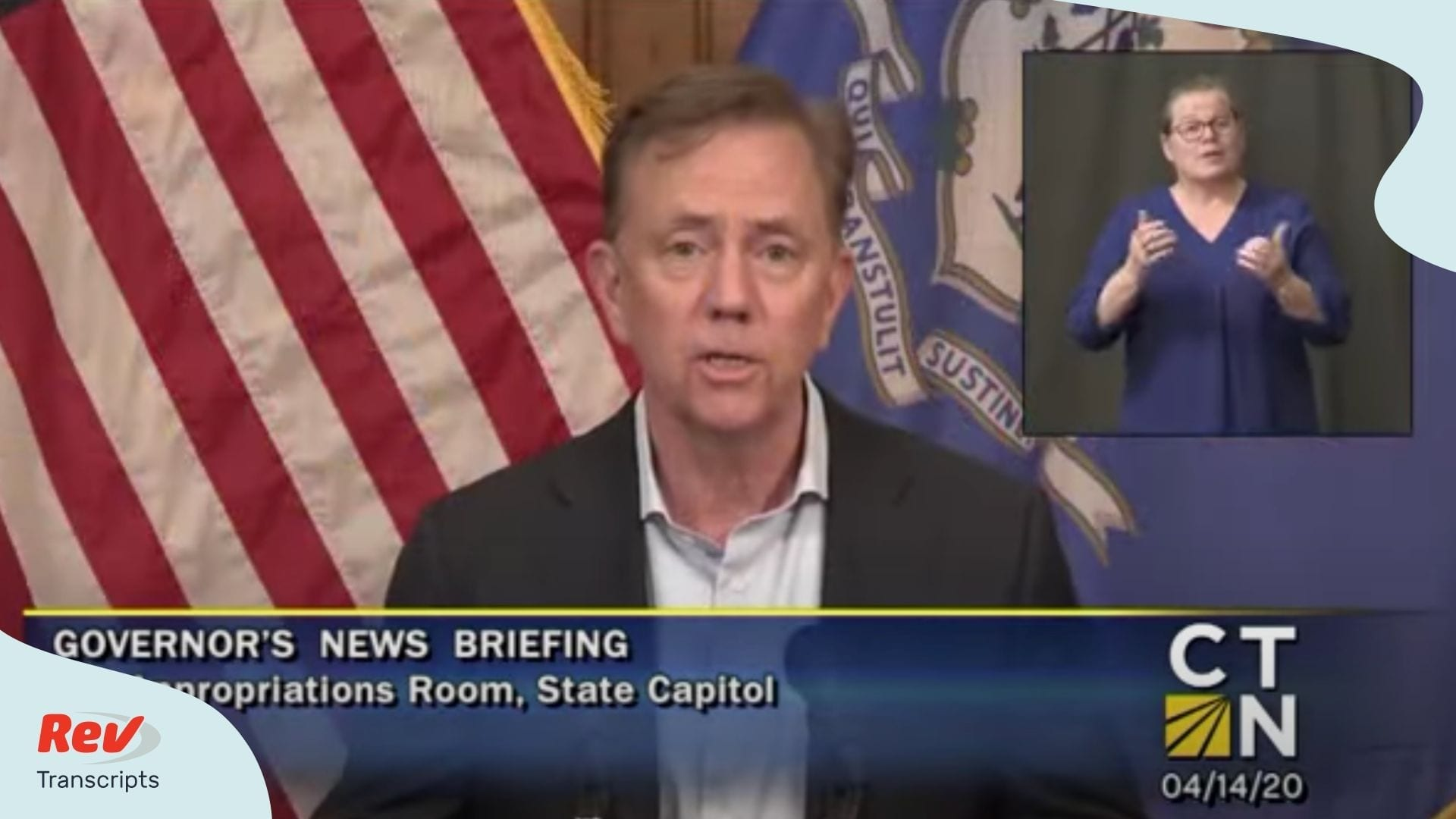 Ned Lamont Connecticut Coronavirus Briefing