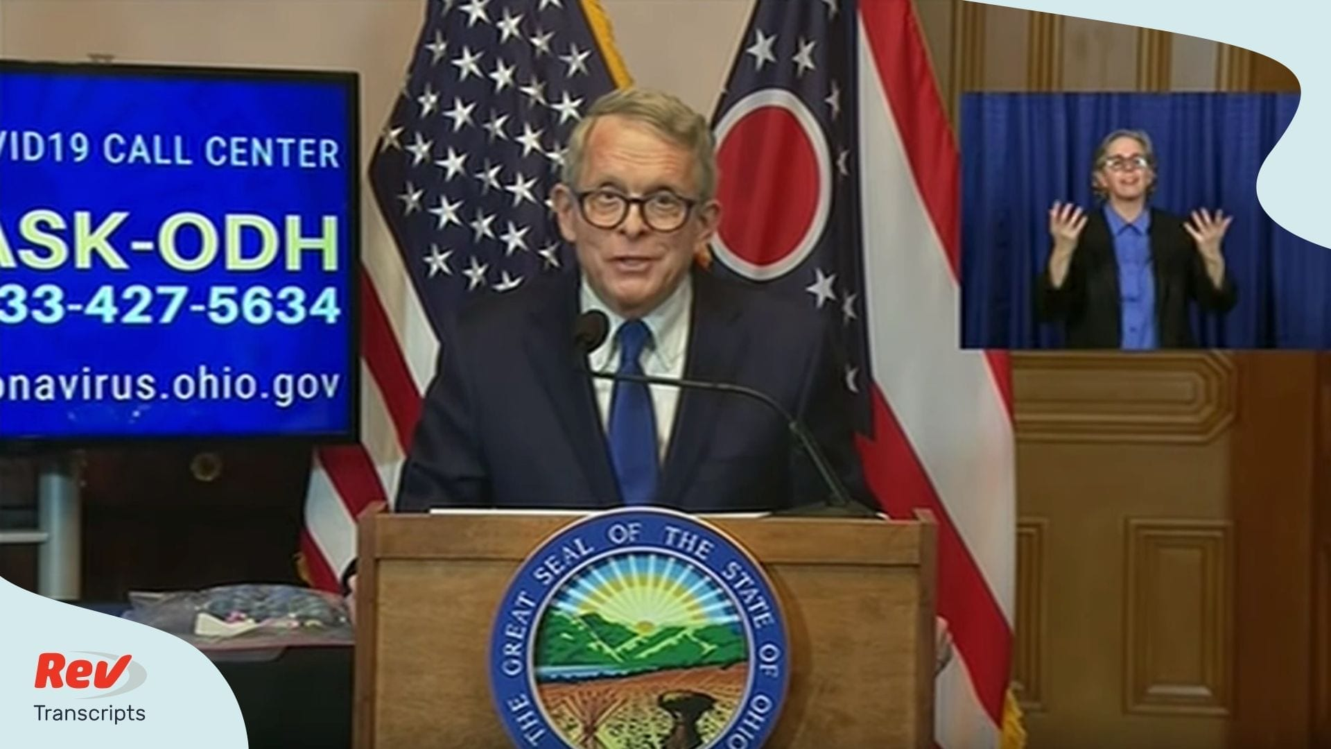 Ohio Governor Coronavirus Press Conference