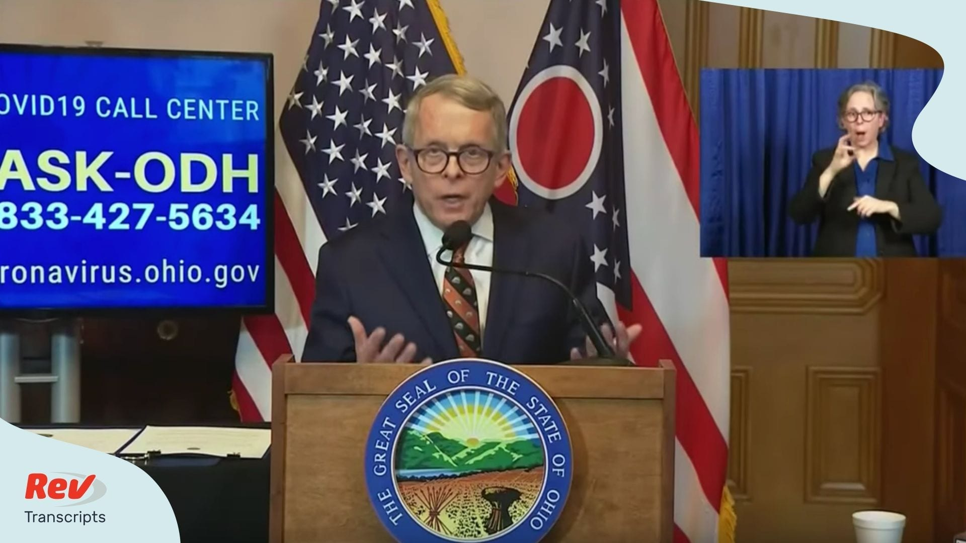 Ohio Governor Mike DeWine Briefing April 13