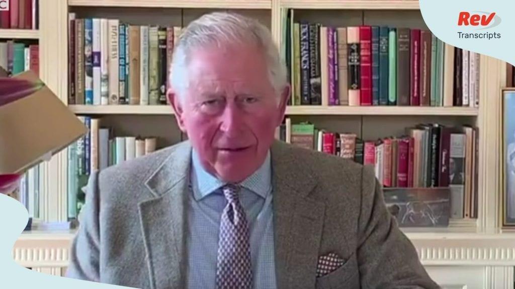 Prince Charles Video Speech on Coronavirus