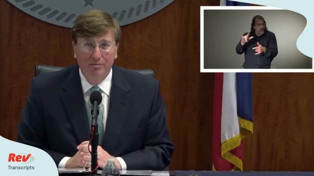 Tate Reeves Coronavirus Briefing April 7
