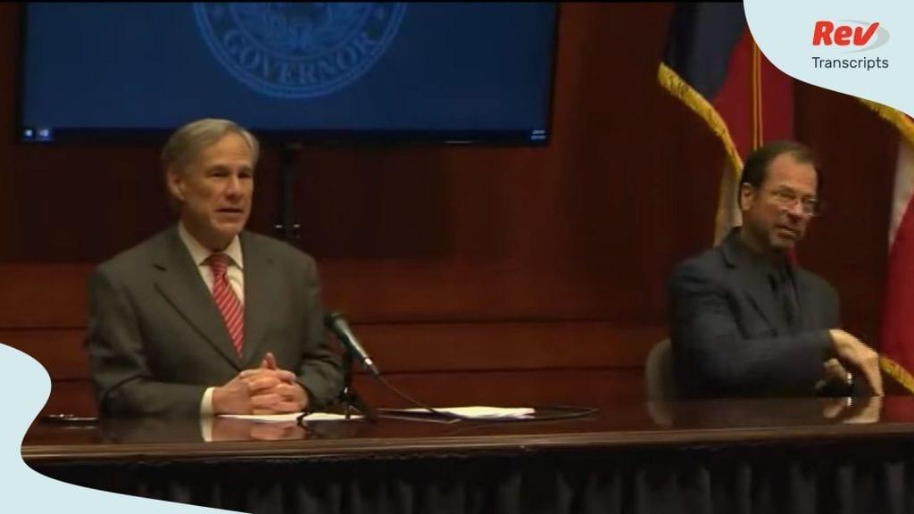 Texas Greg Abbott Briefing April 21