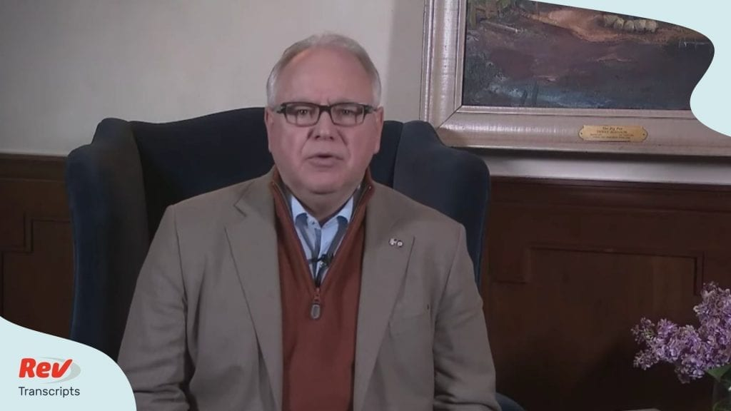 Tim Walz Minnesota Coronavirus Briefing April 5
