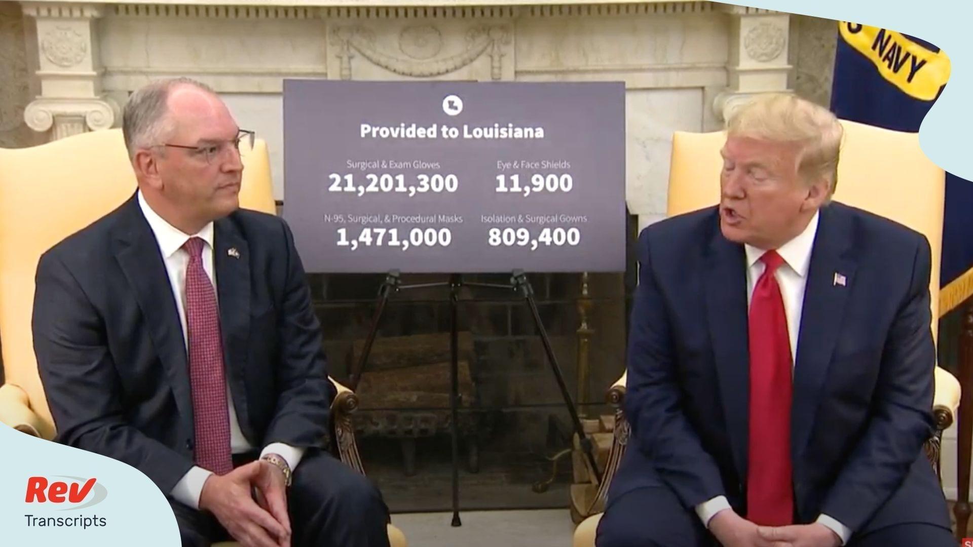 Trump John Bel Edwards Meeting