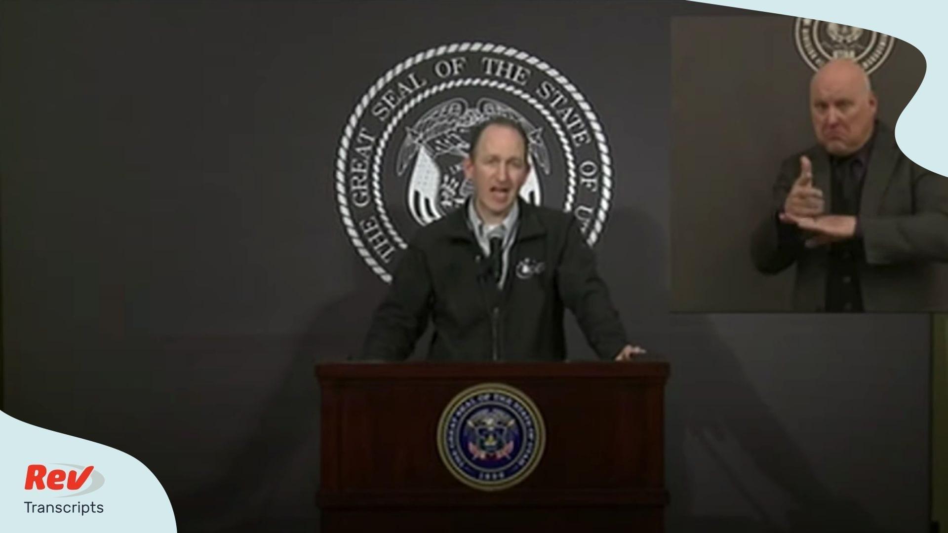Utah Press Conference Coronavirus