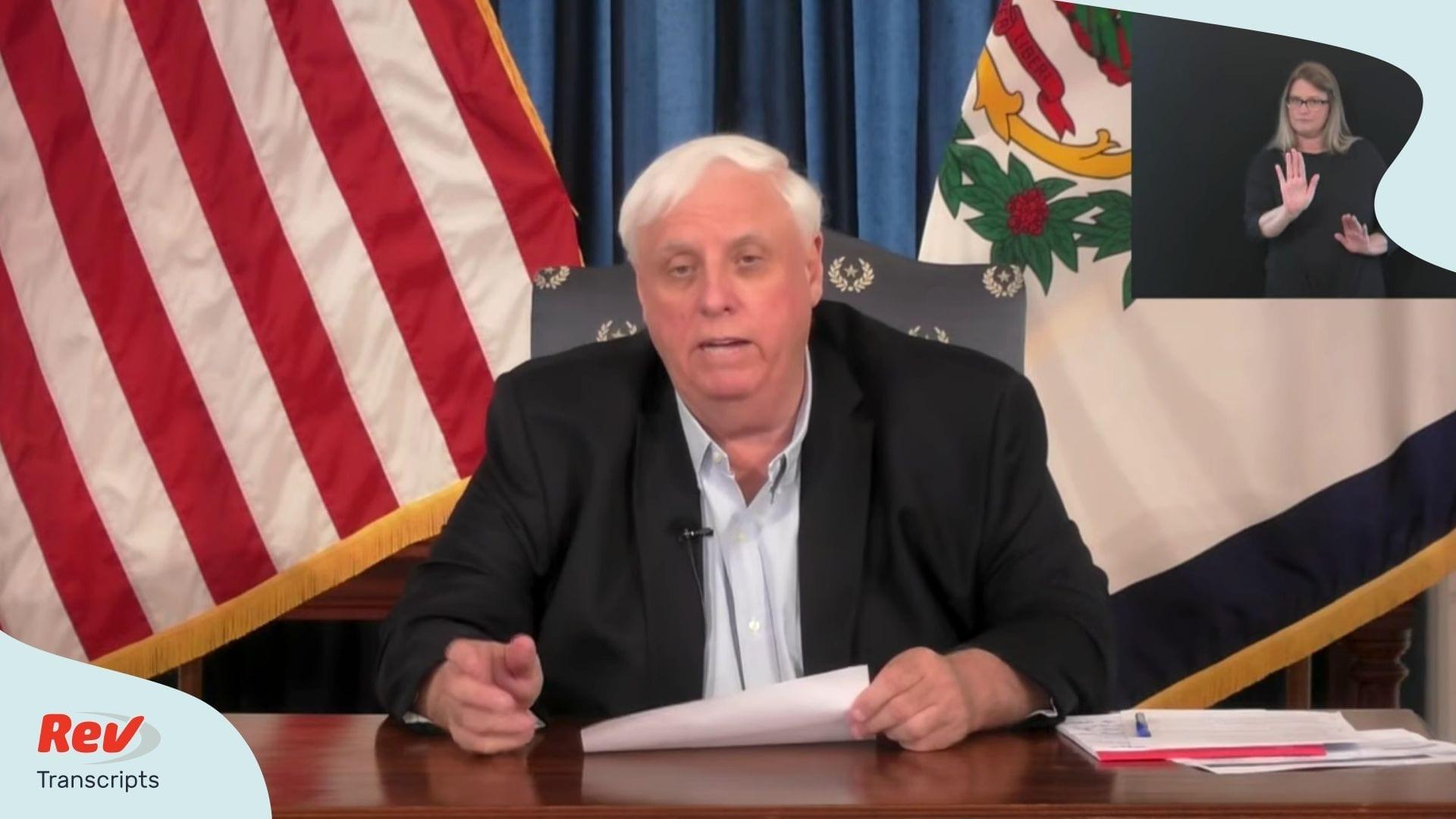 West Virginia Gov. Justice Briefing April 6