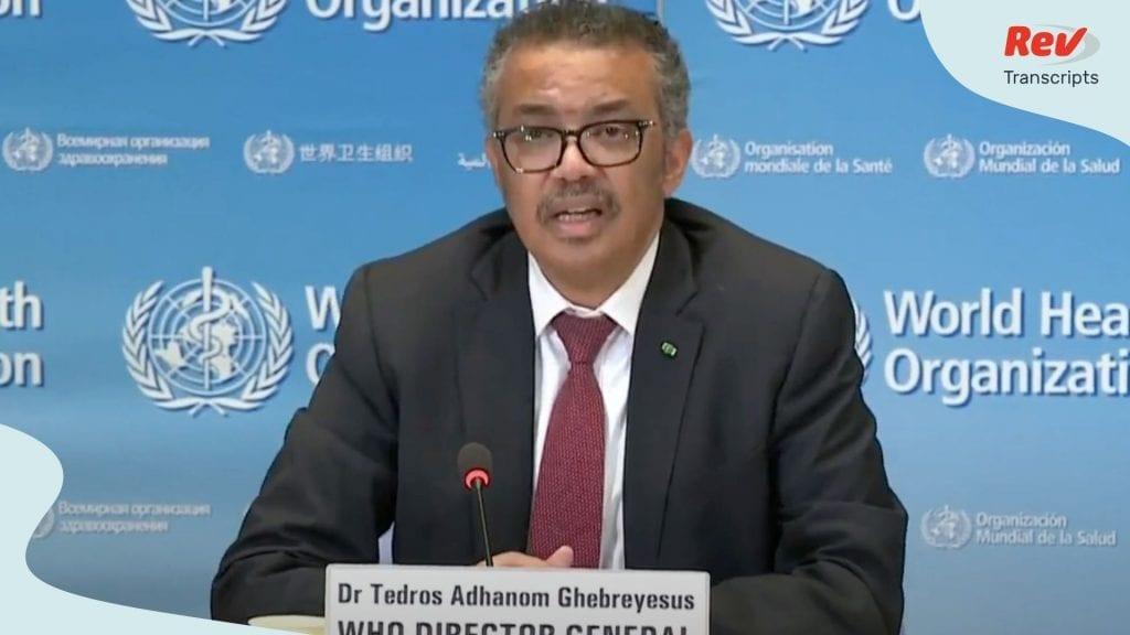 World Health Organization April 15 Briefing
