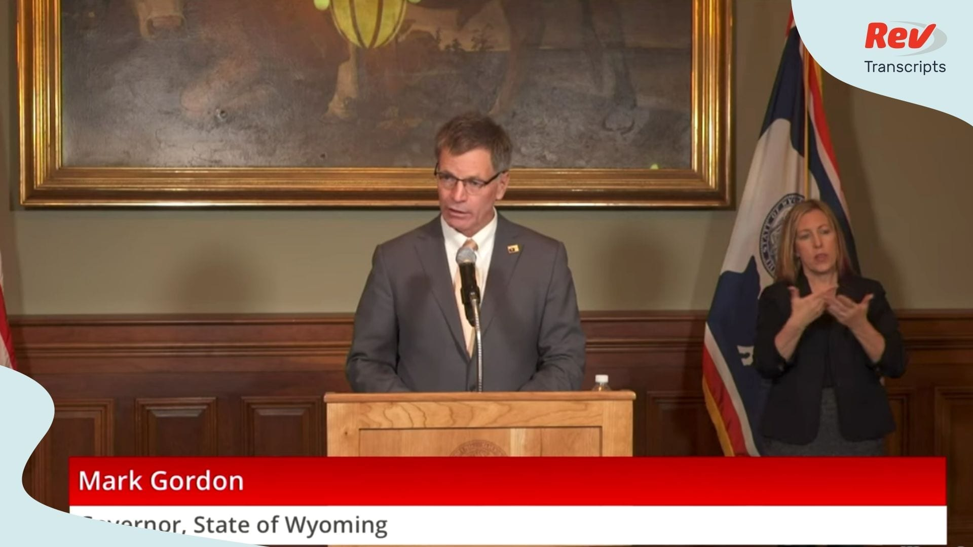 Wyoming Governor Coronavirus Press Conference