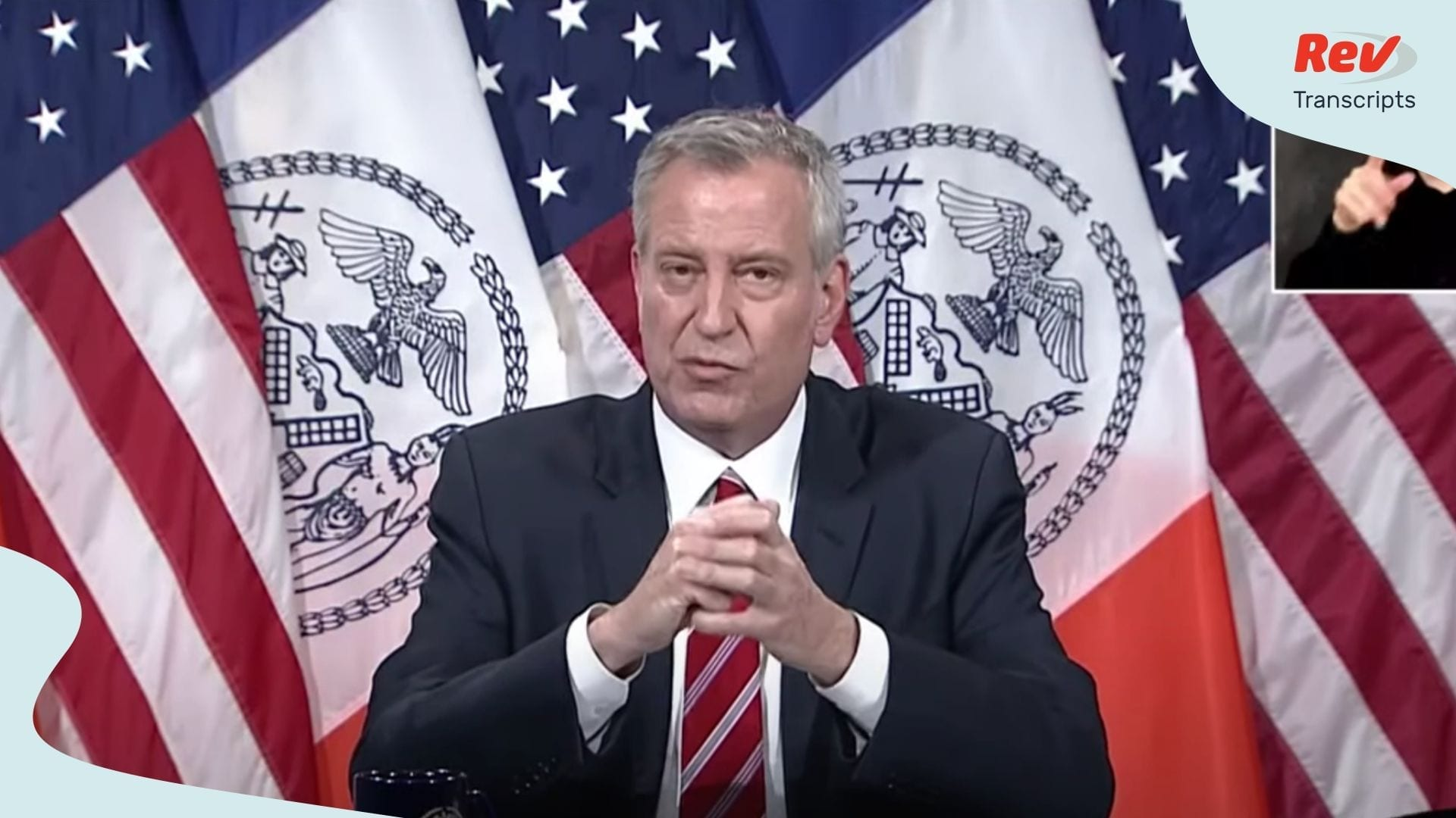 Bill de Blasio Briefing May 4