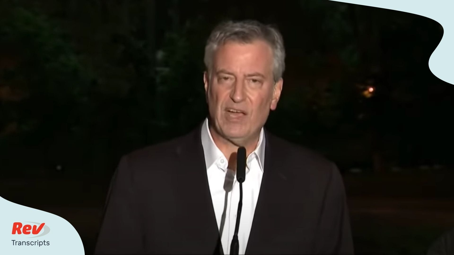 Bill de Blasio Speech During NYC Protests May 30