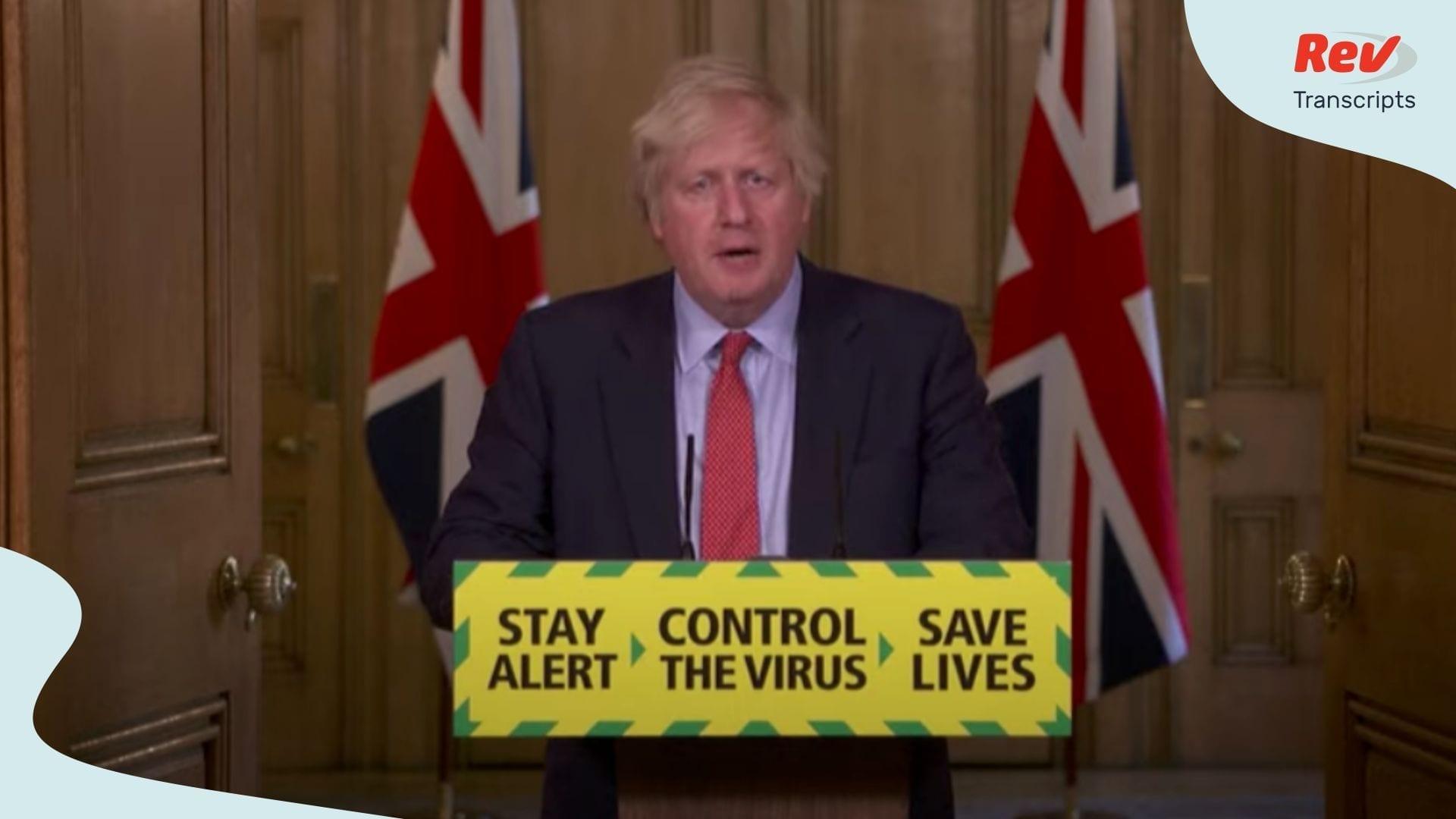 Boris Johnson UK Coronavirus Briefing May 25