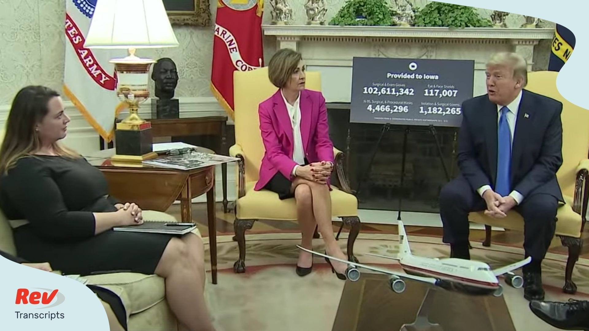 Donald Trump Meets with Iowa Governor Kim Reynolds