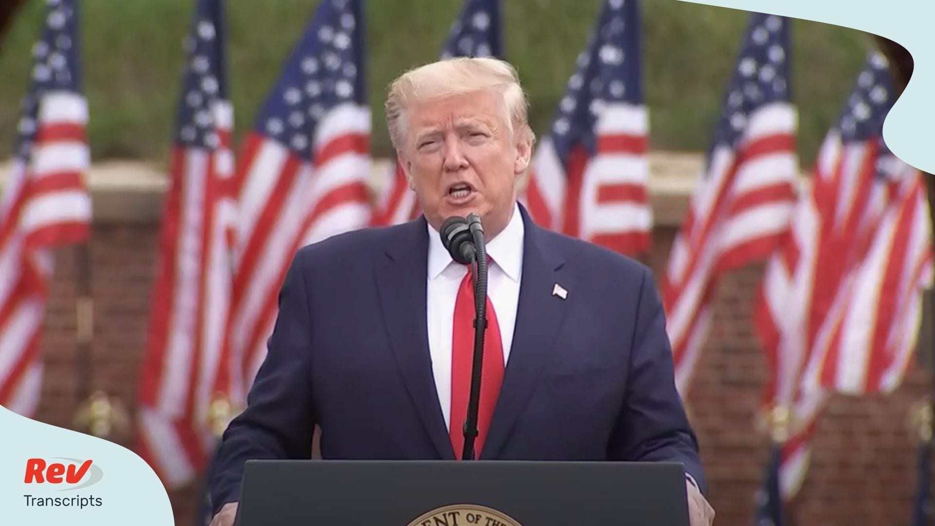 Donald Trump Memorial Day Speech Transcript 2020