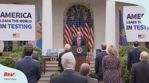 Donald Trump Press Conference Coronavirus Testing May 11