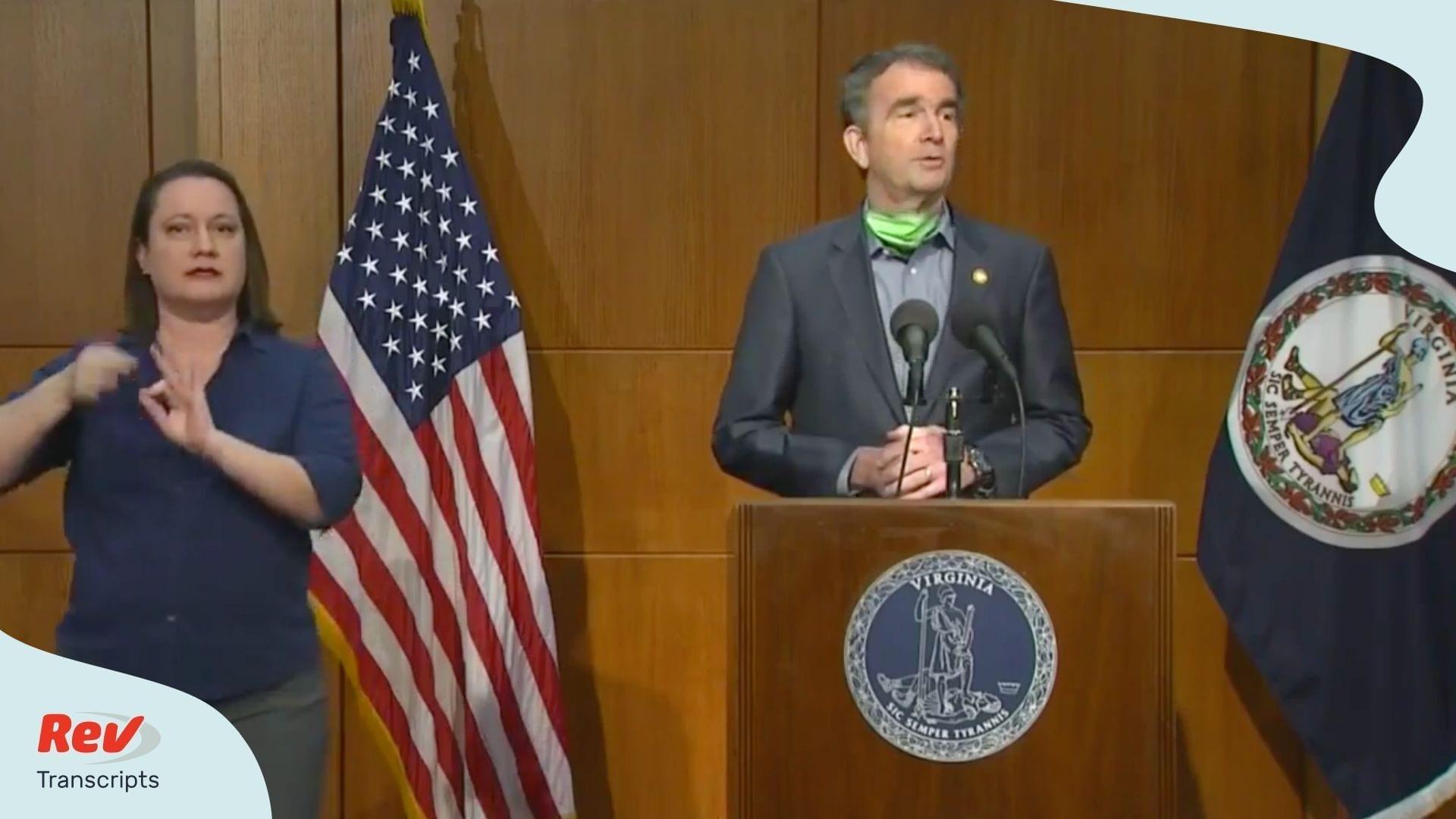 Ralph Northam Press Conference