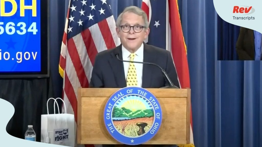 Mike DeWine May 21 Press Conference