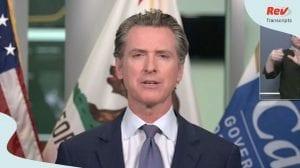 Gavin Newsom California Press Conference