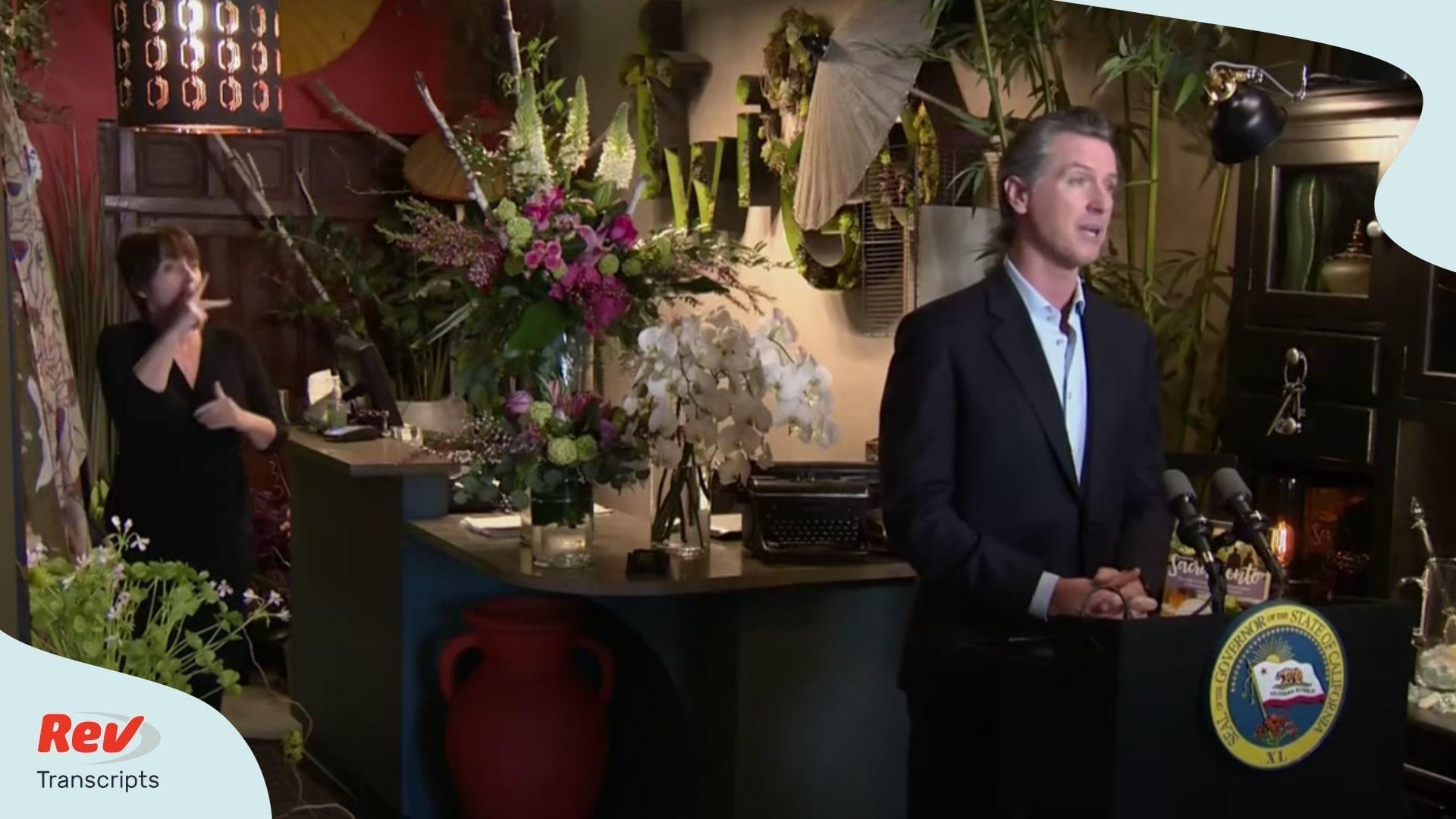 Gavin Newsom Press Conference May 8