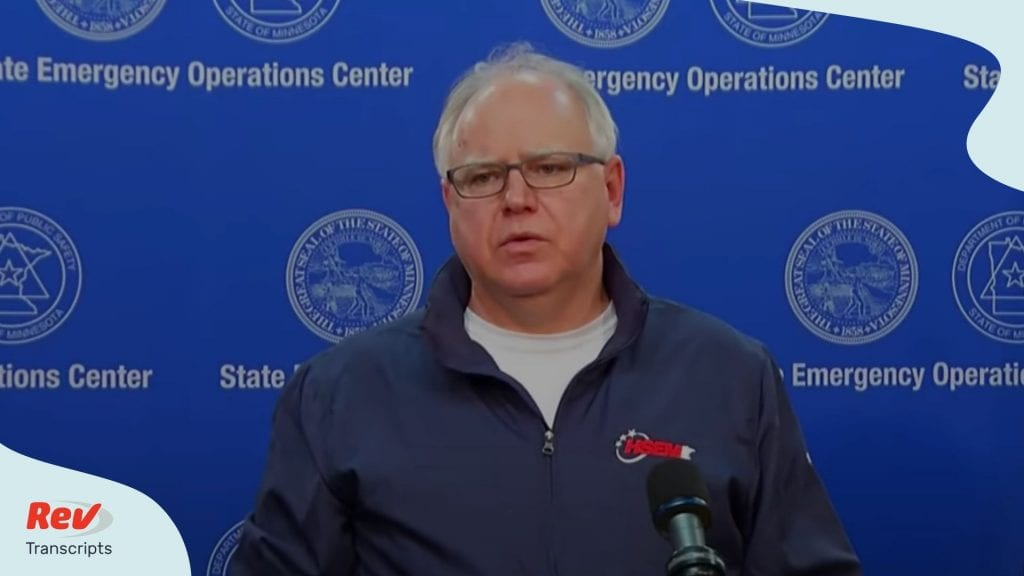 Governor Tim Walz Press Conference 5th Night of Protests