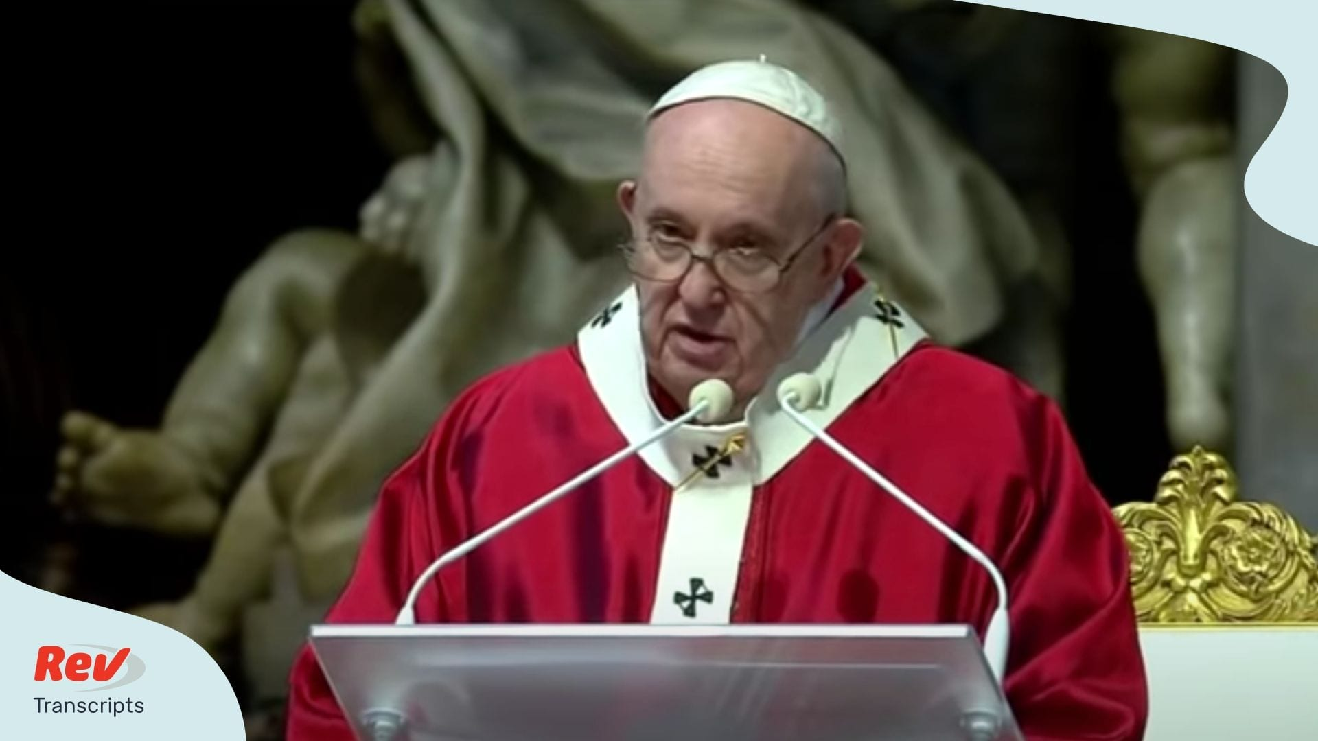 Holy Mass for Pentecost Sunday Pope Francis Transcript