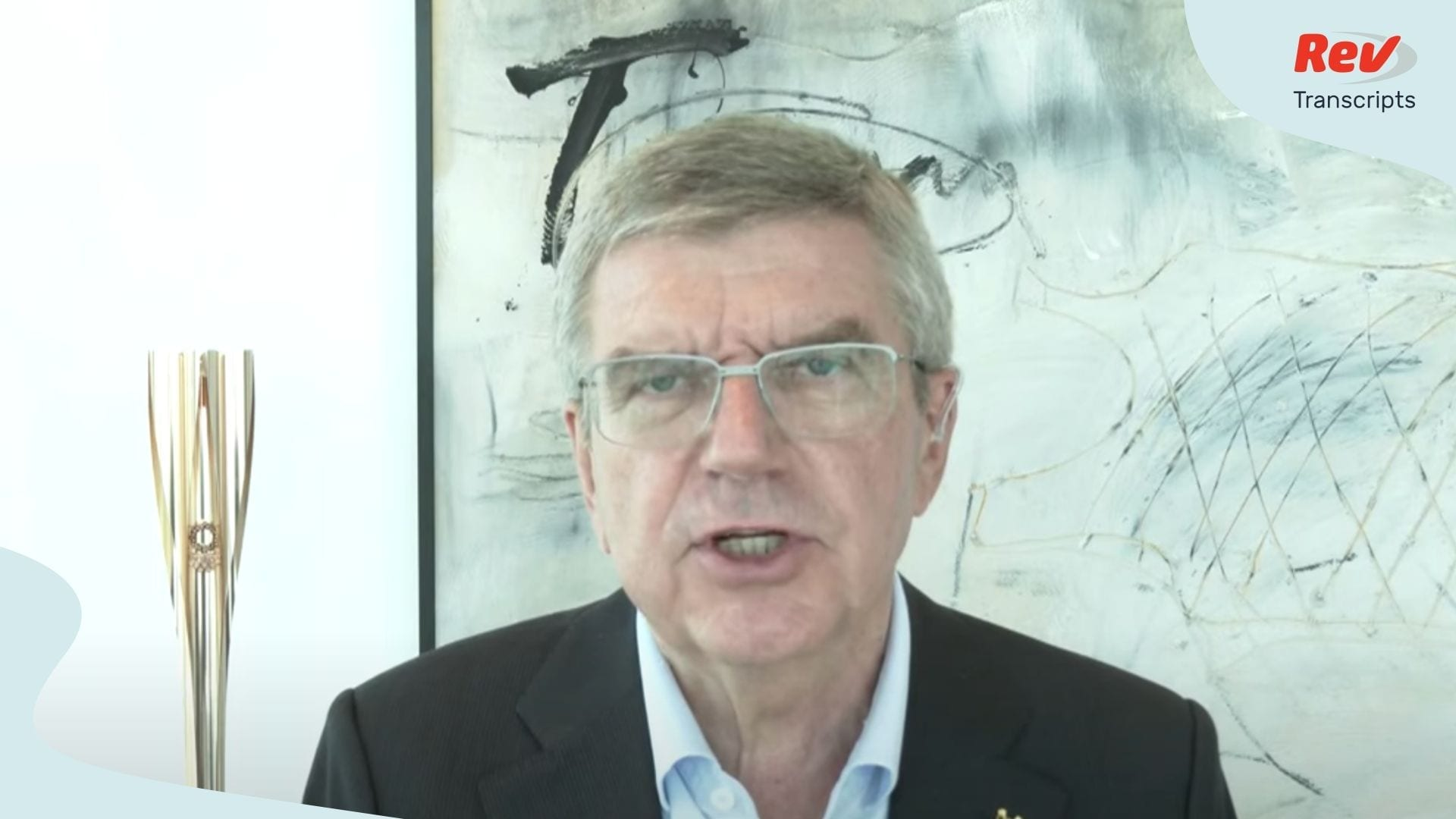 IOC Chief on Olympics in Tokyo Interview Transcript
