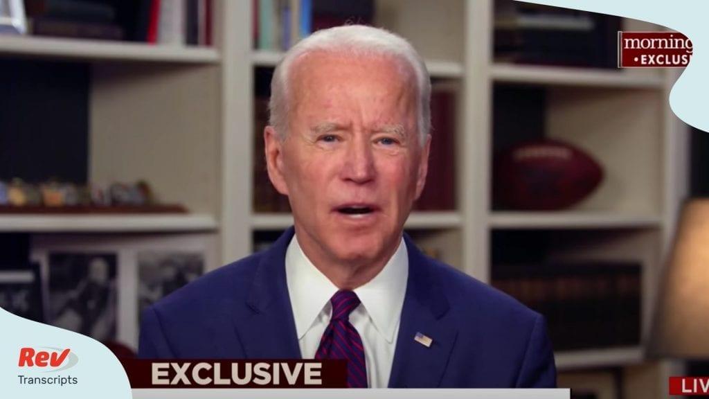 Joe Biden Interview Response to Sexual Allegations