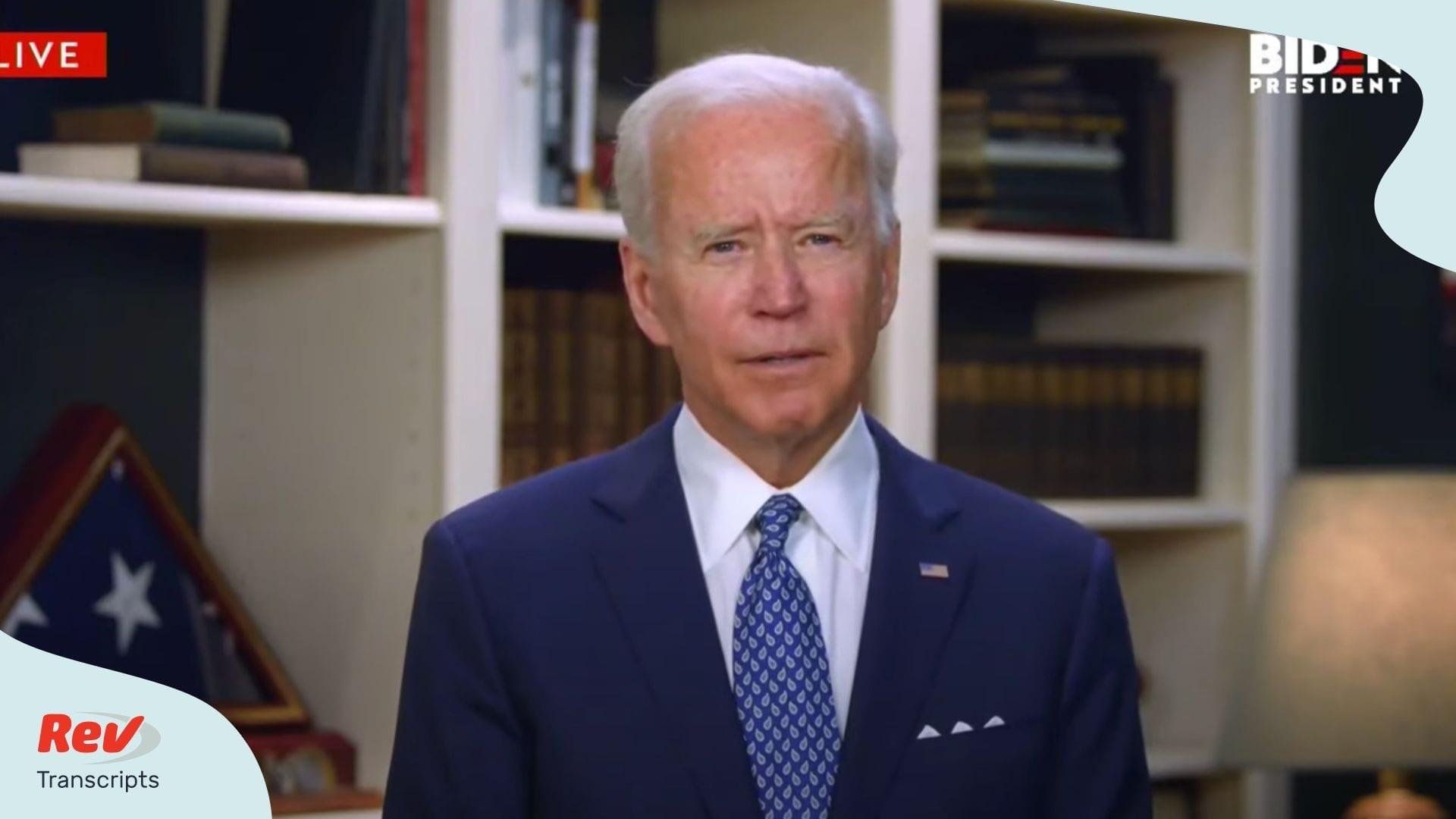 Joe Biden Speech Transcript George Floyd Minneapolis protests