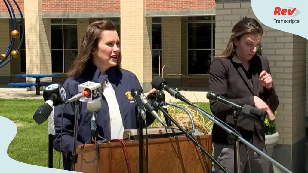Michigan Gretchen Whitmer Press Conference Transcript May 20