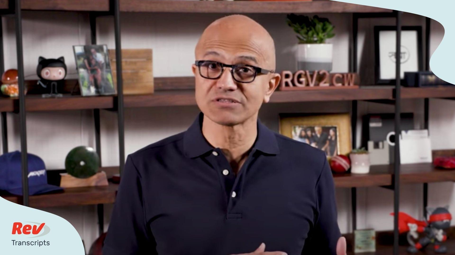 Microsoft CEO Satya Nadella Speech Build 2020
