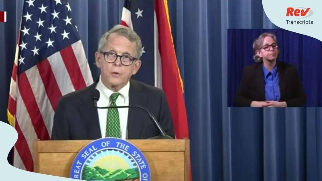 Mike DeWine Ohio May 28 Press Conference