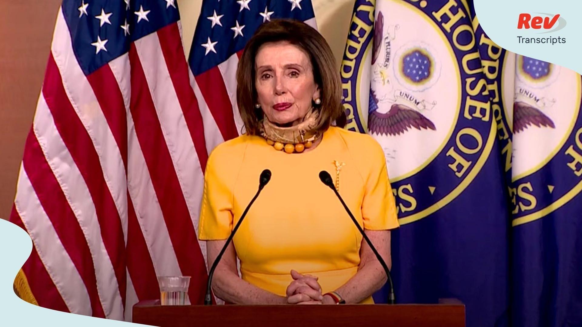 Nancy Pelosi Press Conference Transcript May 20