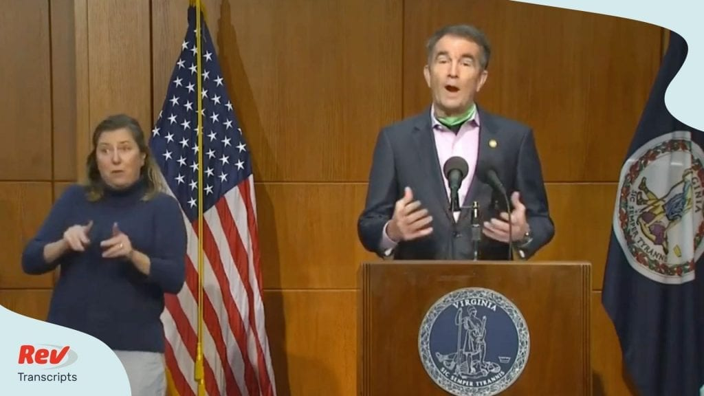 Ralph Northam Virginia Press Conference Transcript May 26
