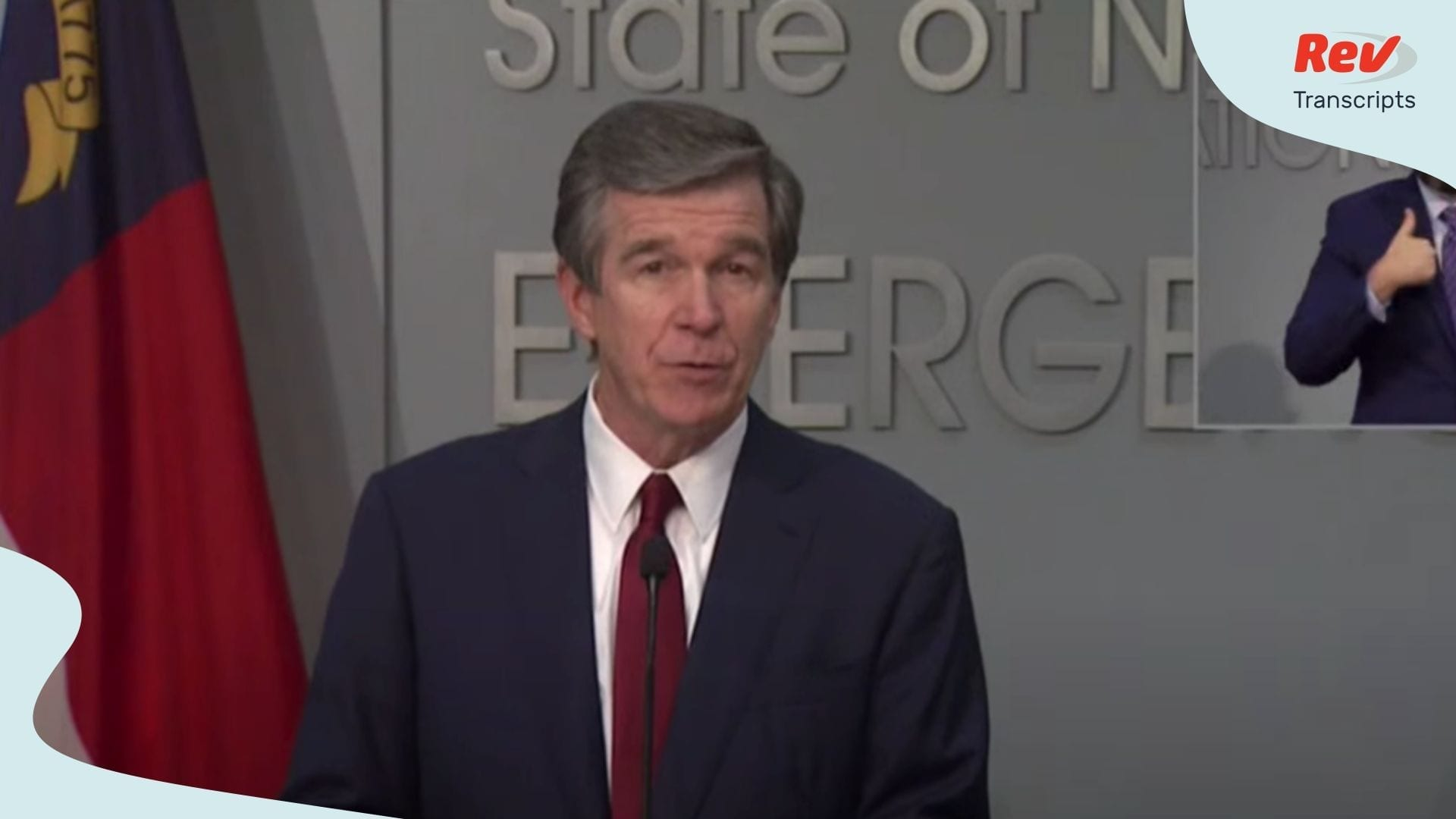 Roy Cooper Press Conference May 18