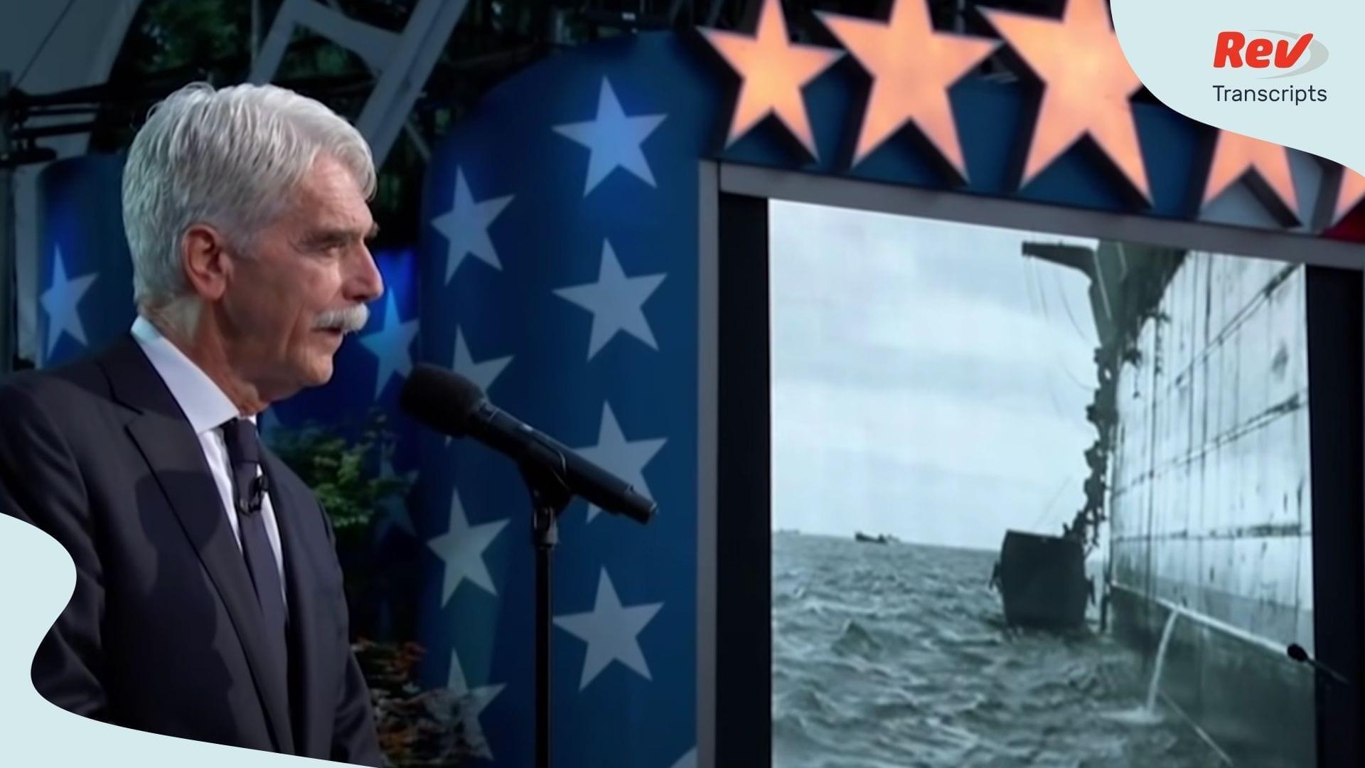 Sam Elliott Memorial Day Speech