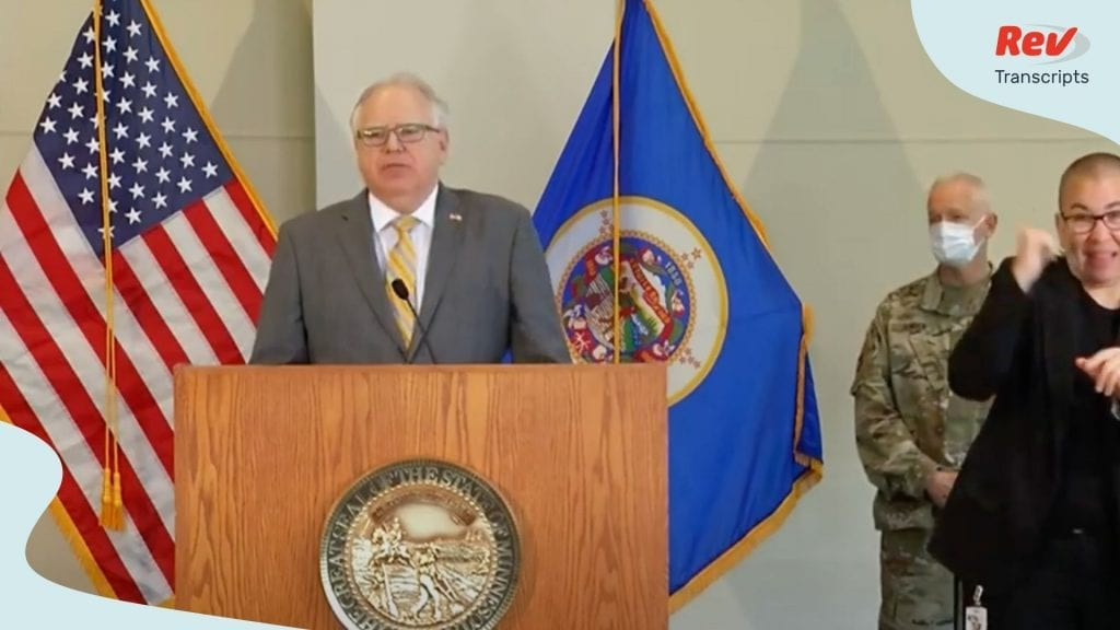 Tim Walz Minneapolis Riot Protest Press Conference