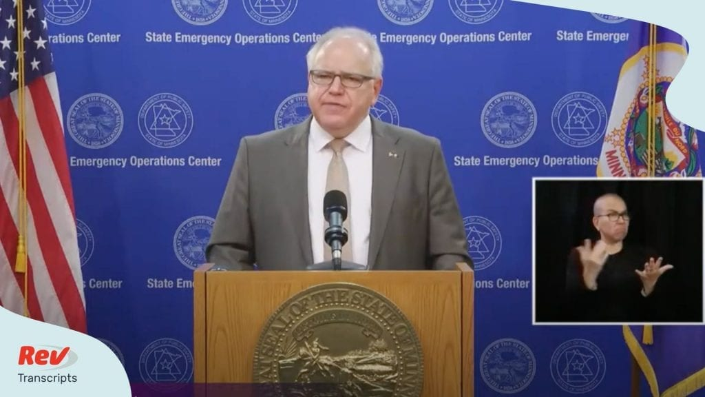 Tim Walz Minnesota Press Conference June 3