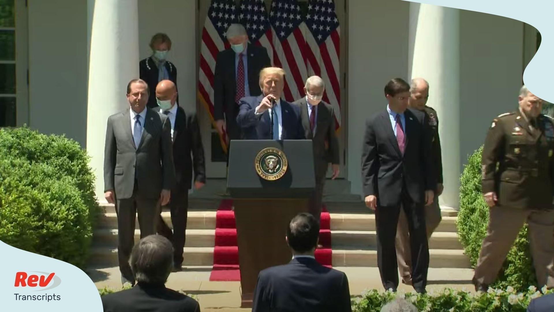 Trump update on COVID-19 vaccine development May 15
