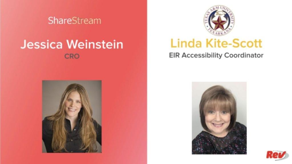 Accessibility Week Day 5 ShareStream