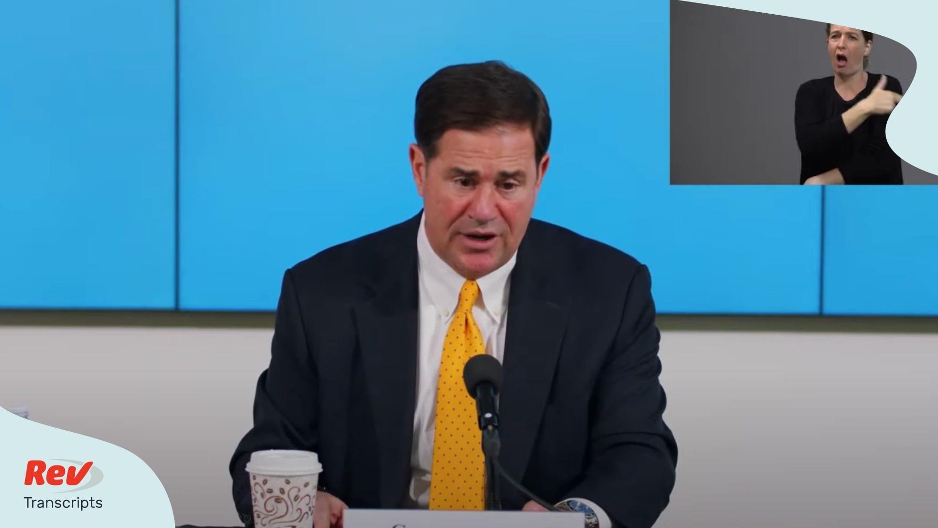 Arizona Governor Doug Ducey Press Conference June 25
