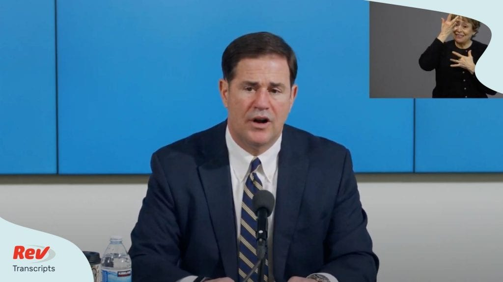Arizona Governor Doug Ducey Press Conference June 29
