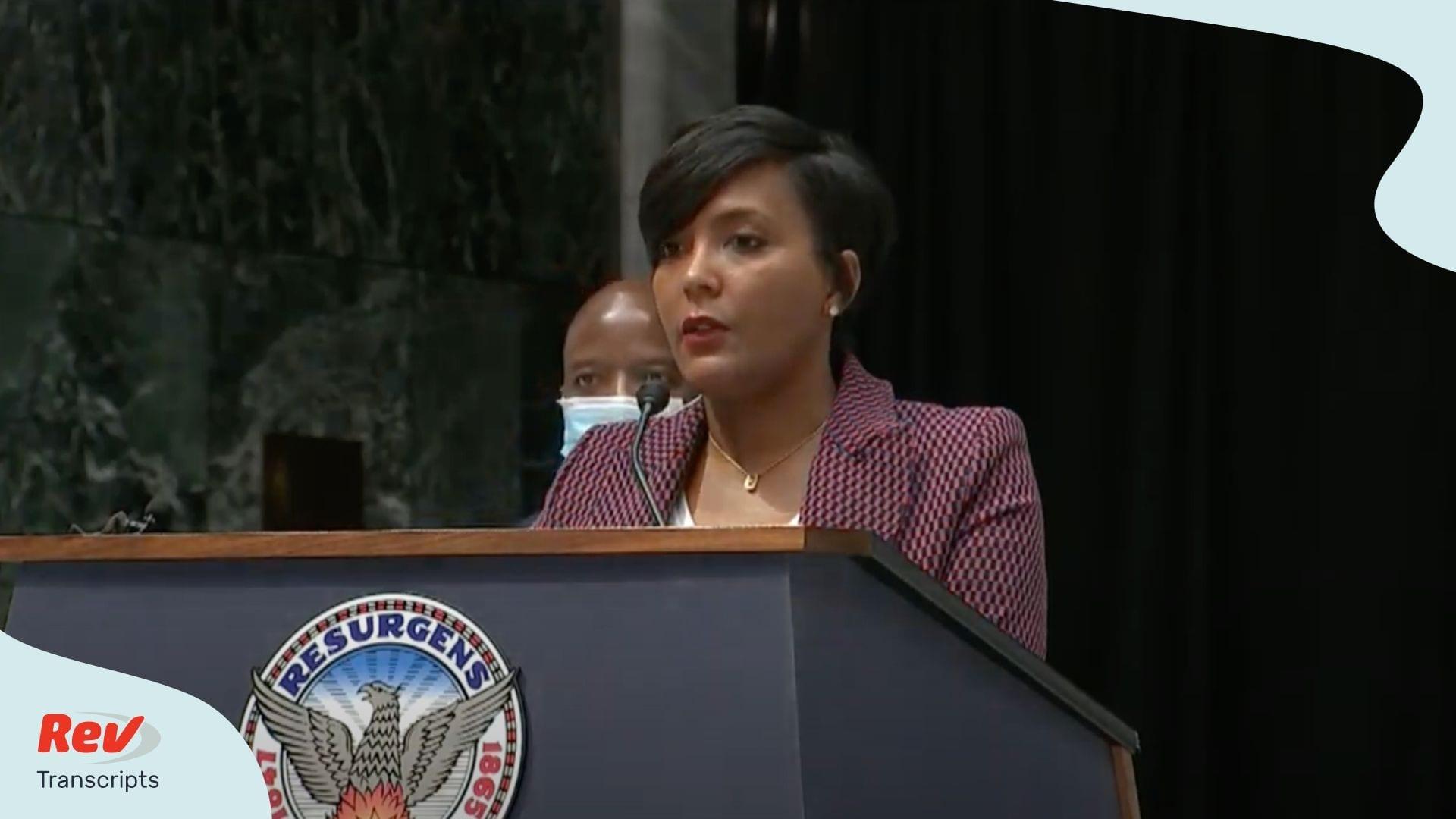 Atlanta Mayor Keisha Lance Bottoms Press Conference June 15