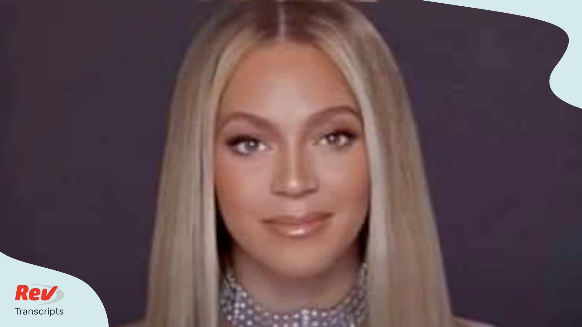 Beyonce BET Award Acceptance Speech