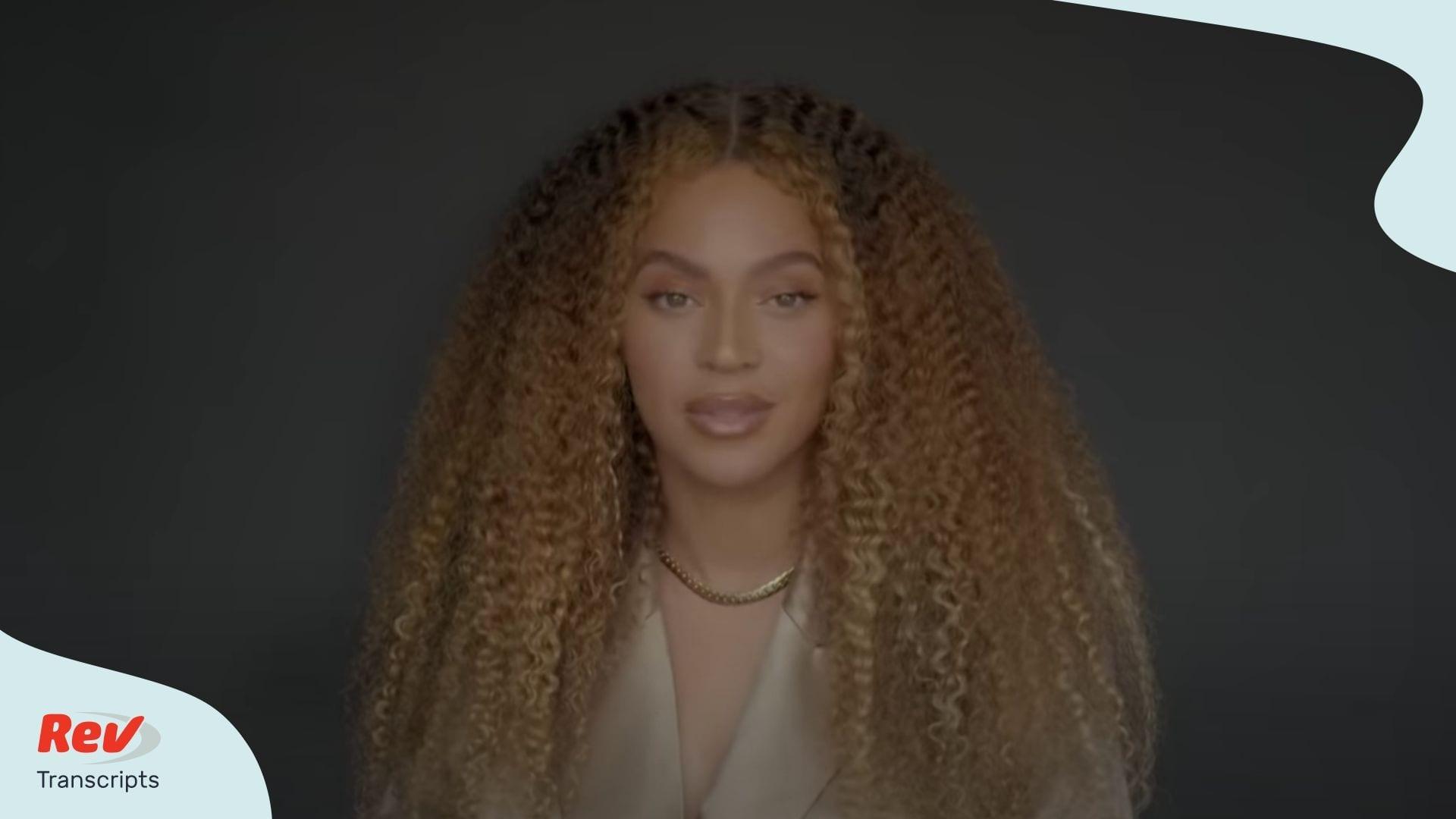 Beyonce Commencement Speech Transcript
