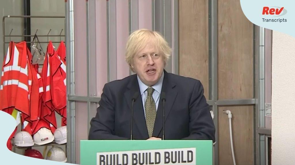 Boris Johnson Infrastructure Speech June 30