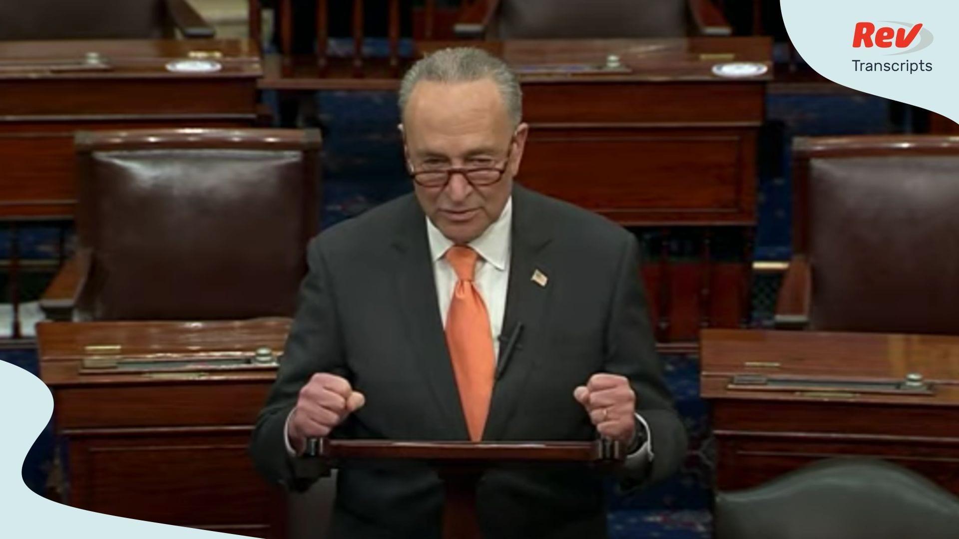 Chuck Schumer Mitch McConnell Senate Floor Speech June 18