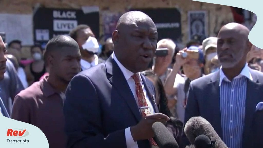 Civil Rights Attorney Ben Crump & George Floyd Family Press Conference